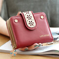 Hollow Out PU Wallet
