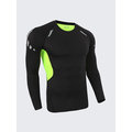 Bodybuilding Breathable Tops Quick-drying Elastic Tight Long Sleeve Sport T-shirt For Men
