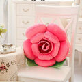40cm 3D Colorful Rose Flowers Throw Pillow Plush Sofa Car Office Back Cushion Valentines Gift