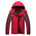 6XL Plus Size Outdoor Sport Climbing Water Resistant  Hooded Jacket for Men