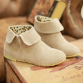 Big Size Zipper Ankle Pure Color Heel Increasing Flat Boots
