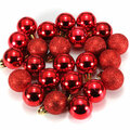 DIY 24Pcs Candy Color Plastic Christmas Tree Jewelry Ornament Balls