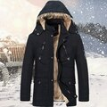 Thickened Warm Hooded Long Coat