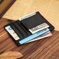 Genuine Leather 5 Card Slots Wallet Portable Mini Coin Bag Card Holder For Men