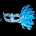 Masquerade Halloween Feathers Painted Masks