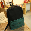 Women Casual  Contrast Color Canvas Shoulder Bag School Bag Backpack