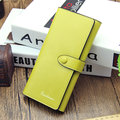 Women PU Leather Multi-slots Card Holder Long Wallet Purse