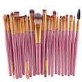 20Pcs Pink Handle Wool Brush Set Maquiagem facial Power Blush escovas