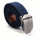Mens Long Weave Canvas Web Belt Outdoor Slider Buckle Military Tactical Durable Belt Adjustable
