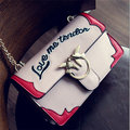 Stylish English Words Pattern Hasp Cute Chain Shoulder Bags Crossbody Bag For Women