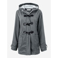 Fleece Horn Buttons Coat