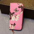 Women Flower Print Stylish Long Wallet Card Holders Purse