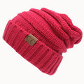 Women Men Warm Soft Knitted Bonnet Hat Beanies Cap