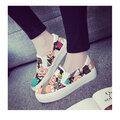 Cute Pattern Colorful Casual Slip On School Flat Shoes