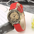 Vintage Cute Cat Pu Leather Watch