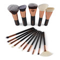 MAANGE 15Pcs Professional Wooden Handle Makeup Brushes
