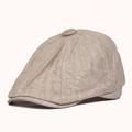 Мужчины Женщины Newsboy Хлопок Blend Hat Берет Повседневная козырька Sun Hat Flat Cabbie Cap