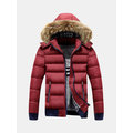 Thicken Warm Detachable Hood Jacket