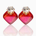 Elegant LuxuryEarrings Zircon Crystal Ear Stud Diamond Smooth Earrings