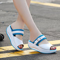 Buckle Fish Mouth Rocker Sole Shake Casual Sandals