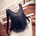 Shell Burglarproof Travel Backpack Casual Pu Leather Women Men Unisex Bag