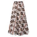 Vintage Casual Loose Elastic Waist Loose Women Printed Skirts