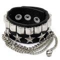 Металлическая звезда Tassel Punk Chain Leather Bracelet