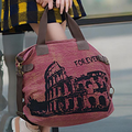 Women Retro Canvas Large Capacity Tote Bag