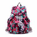 Women Nylon Waterproof Casual Candy Color Backapck Girls Sweet Froal Leisure Schoolbag