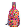 Women Men Casual Printing Pure Color Sport Lightweight Waterproof Shoulder Bags Chest Bag