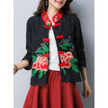 Chinese Style Women Embroidery Stand Collar Jacket