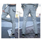 Mens Solid Color Cotton Blend Comfortable Jogging Running Sports Pants with Drawstring