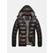 Mens Winter Thickened Warm Windproof Padded Jacket Detachable Hat Coat