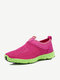 Big Size Color Blocking Mesh Breathable Soft Slip On Trainers