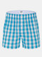 Arrow Pants Casual Cotton Plaid Printing Loose Sport Underwear for Men