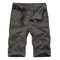 Mens Outdoor Cotton Pants Summer Casual Loose Fit Plus Size Shorts