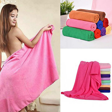 70*140cm Absorbent Microfiber Bath Towel Beach Quick Dry Washcloth