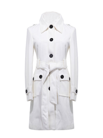 Casual Sexy Woolen Medium-long Elegant Career Coat