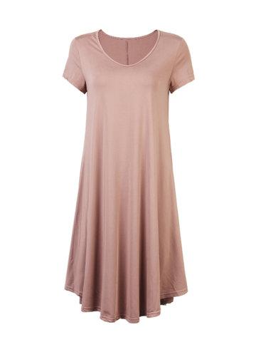 Повседневное сплошное цветное нерегулярное платье