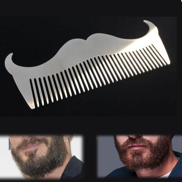 Stainless Steel Beard Comb Hair Brush Mustache Trimming Grooming Maintain Durable Men