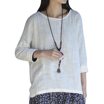 Casual Women Solid Long Sleeve High Low Blouse