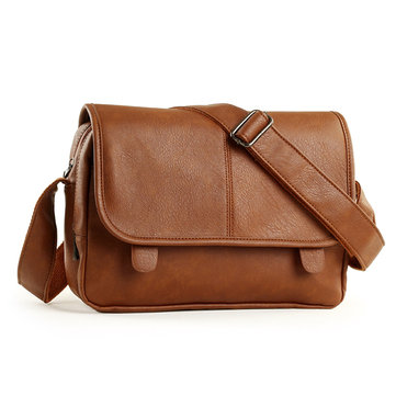 Buy Men Retro Messenger Business Pu Leather Crossbody Bag Outdoor Casual Shoulder