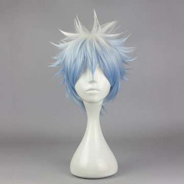 Fluffy Short Straight Cosplay Costume Wig Synthetic Fiber High Temperature Anime Hair