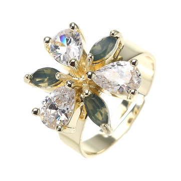 JASSY® Gold Plated Adjustable Flower Ring