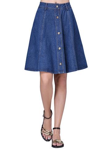 Повседневная одиночная брючная женская джинсовая юбка для женщин