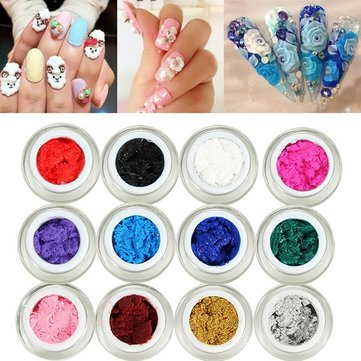 12 Colors/Kit 3D Carving UV Gel Set Sculpture Nail Art Manicure DIY Design