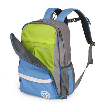 Men Women Contrast Color Dual-Use Light Weight Casual Backpack Laptop Student School Backpack