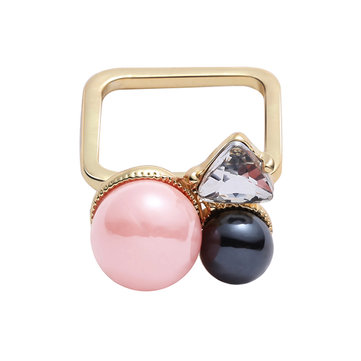 JASSY® Pink Pearl Square Ring