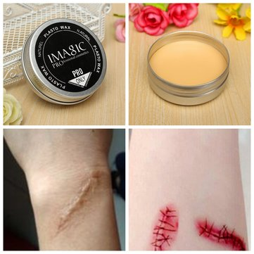 3Pcs/Kit Special Effects Halloween Makeup Tricky Scar Tattoo Cover Concealer False Wound Skin Wax
