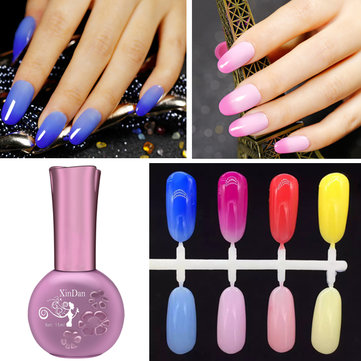 Temperature Changing Soak Off UV Gel Polish Long Lasting 4 Colors